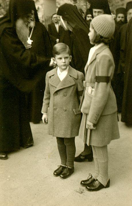 Младият Цар и сестра му Княгиня Мария Луиза, 1944