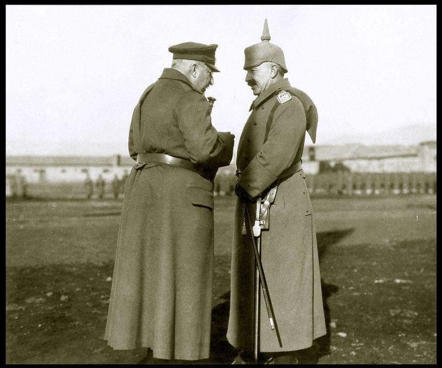 Цар Фердинанд и Германския император и Пруски крал Вилхелм II в Ниш, 1916 г.