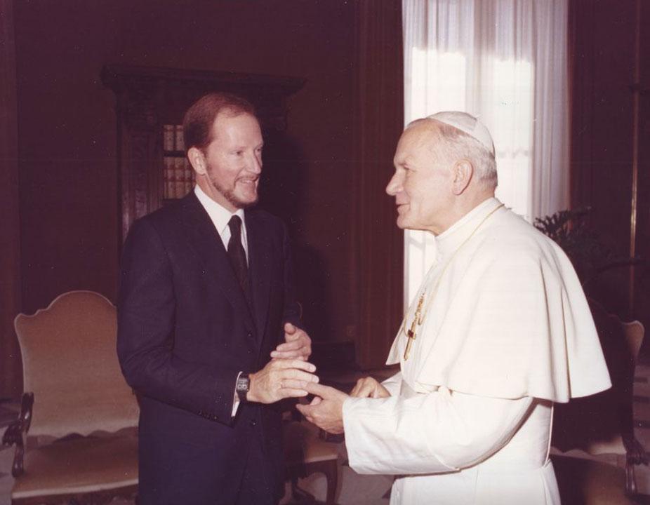 Цар Симеон и Папа Иоан Павел II, 1983 г.