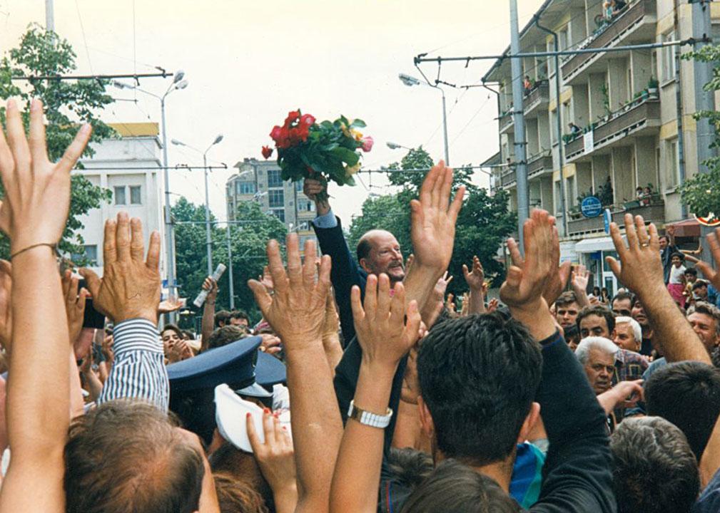 Цар Симеон сред своя народ, 1996 г.